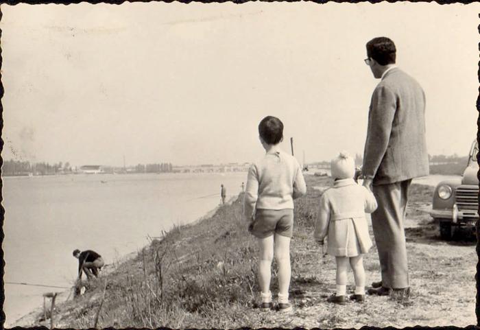 Massimo, Fabio e Gigi, lungo il fiume
